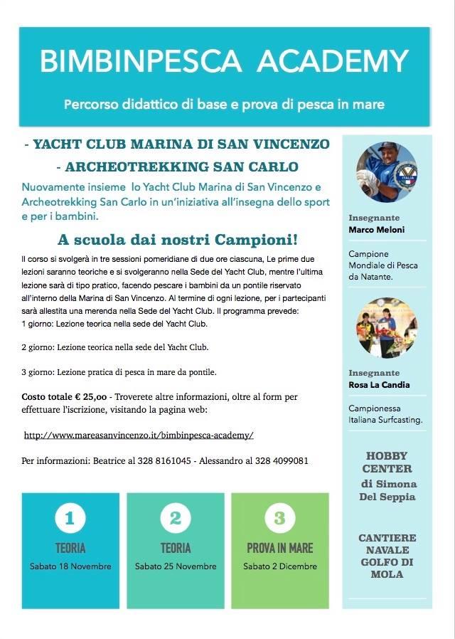 Un primo approccio alla pesca sportiva allo Yacht Club di San Vincenzo