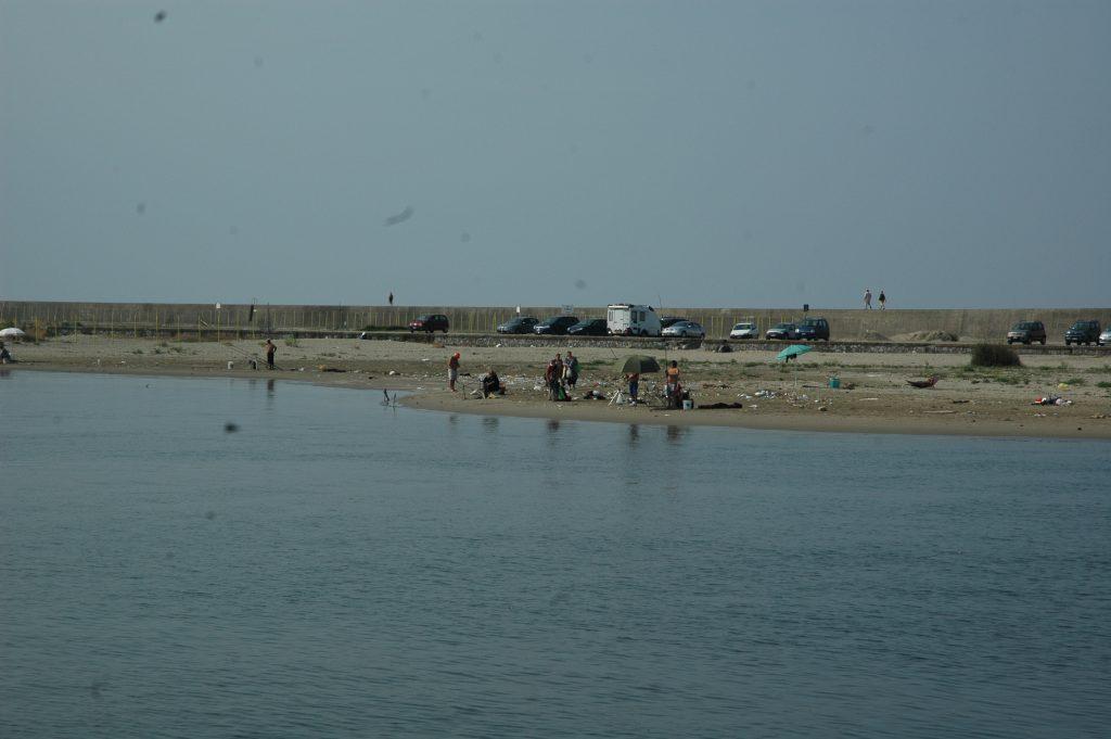 veduta della spiaggia sul molo Tito
