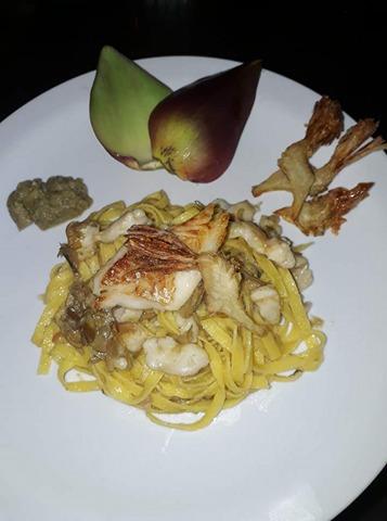 Spaghetti orata e carcionfini