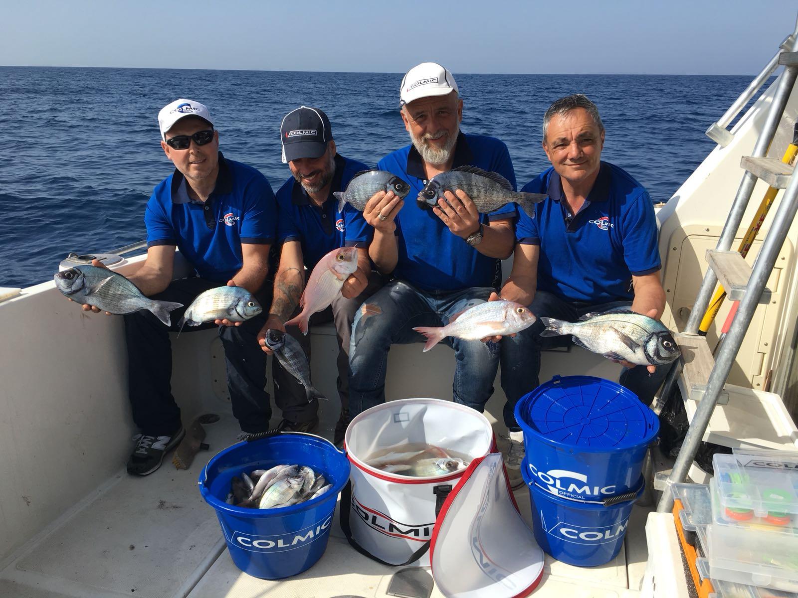 da destra Marco Melonii, Gianluca Magri, Valerio Mastracci  e Jacopo Falsini