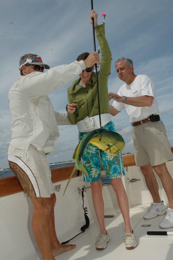 La pesca con l'aquilone non vuol dire solo vela, in questo caso af attaccare l'esca è stata una bella lampuga