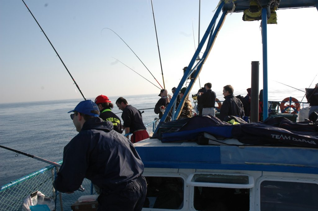 La pesca in Adriatico dal barcone è una risorsa turistica notevole che si effettua per tutto il litorale fino alle coste pugliesi