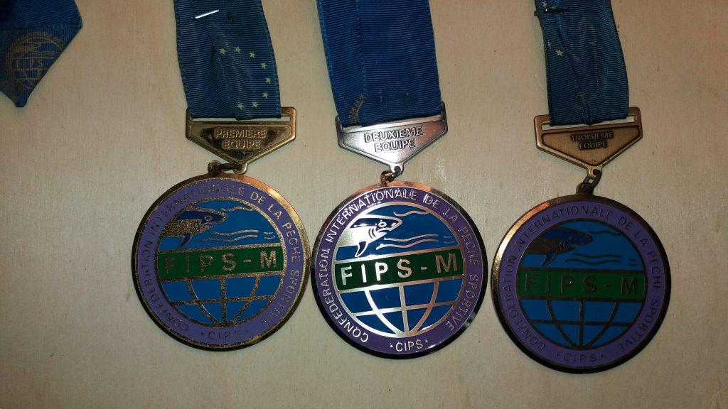 Le medaglie della FIPS Mer Color Oro al primo, Argento al secondo e Bronzo al terzo