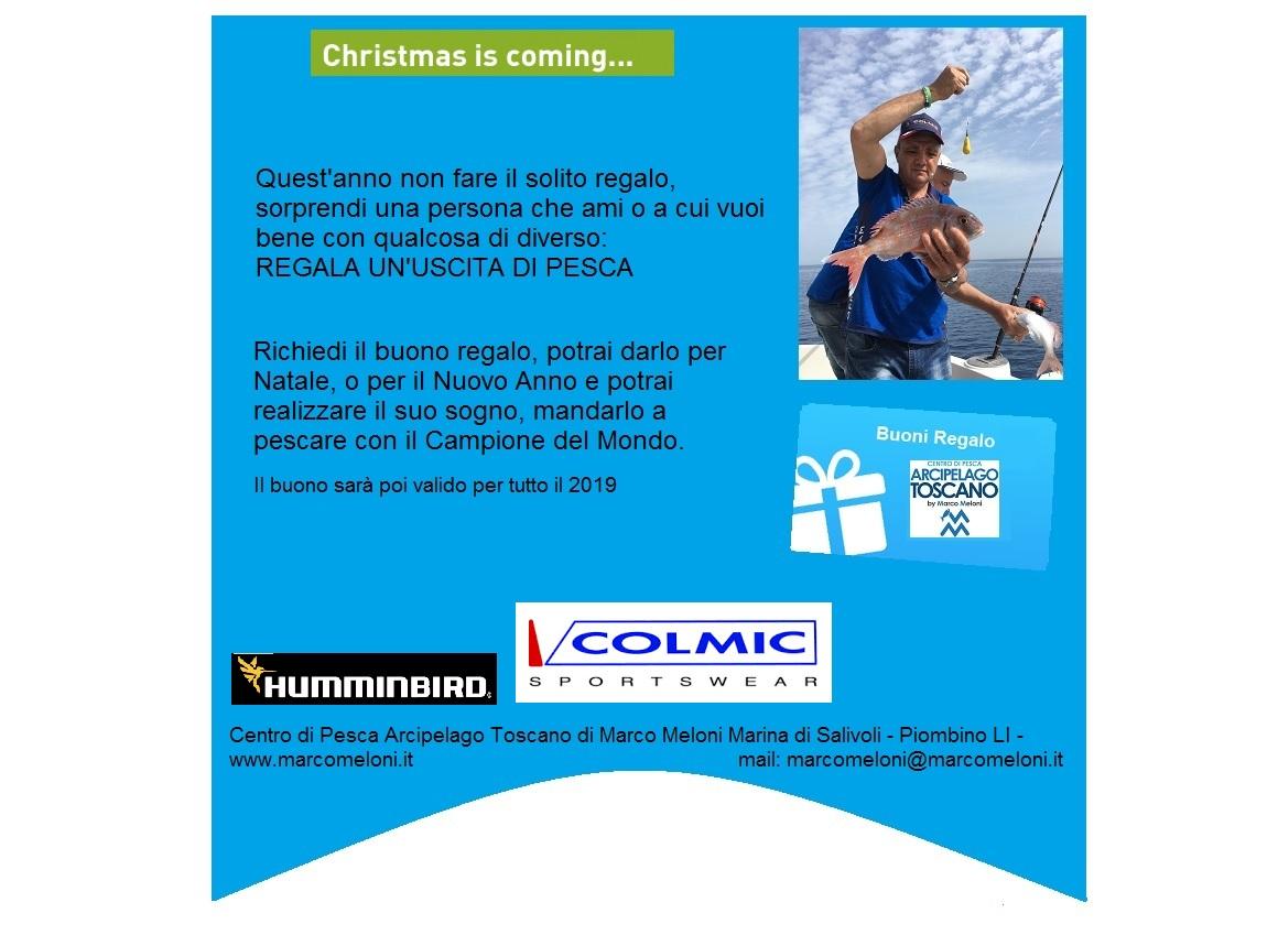 Regala un'uscita di pesca lo slogan del Centro di Pesca Arcipelago Toscano